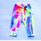 Hand printed NEON MELT leggings