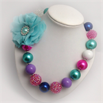 Princess Pretties - Frozen inspired chunky bubblegum bead necklace