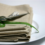 Set of 4 - Cloth Dinner Napkins - Linen/Cotton 17 inch (43cm) square