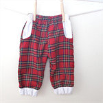 festivalkids Girls tartan play pants with white trim
