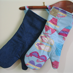 Beach Fun! Bespoke long oven gloves