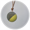 Concrete pendant in yellow with leather strap.