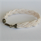 Cream Seed Bead Braided Bracelet