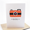 Bon Voyage Card - Orange Polkadot Camera - Holidays- BON009 - Travel