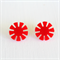 Retro Red Flower Earring Studs