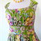 Ladies Jamie Dress MADE TO ORDER green floral, plus size, retro, circa