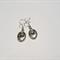 Silver 'Laugh Often, Love Much' Earrings