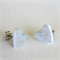 Silver Glitter Heart Earrings Studs