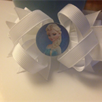 DISNEY FROZEN HAIR BOW-CLIP- ELSA