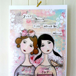 """Your heart will never be alone - Print 8x10"""""""