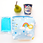 Insulated Snack Bag / Lunch Bag / Baby Bottle Bag - Rainbow (Blue)