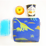 Insulated Snack Bag / Lunch Bag / Baby Bottle Case - Dinosaur (Blue)