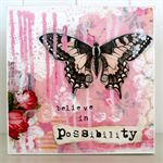 """Believe in possibility - Print mounted on canvas 8x8"""""""