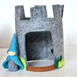 Felt gnome and castle