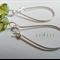 Argentium Sterling Silver range - lime/olive Czech bead earrings