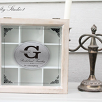 Established Family name sign, Personalized Tea Box Silver Plate