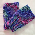 Handspun wool Crochet Fingerless Gloves