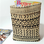 Tribal hessian basket- geometric