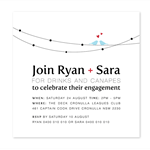 Printable Engagement Invitation - Love on a Wire