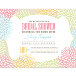 Printable Custom Bridal Shower (or any occassion) invitation - Spring in Bloom