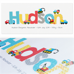 {BRIGHT TRUCKS} Personalised Door Plaque 28x12cm