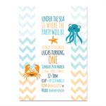 Printable Custom Birthday Party Invitation - Under the Sea