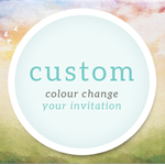 Add On: Custom Colour Change for Printable Party Invitations