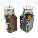 Mexican Inspired Polymer Clay Salt and Pepper Shakers Bright Colours & Patterns