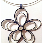 Large paper flower pendant