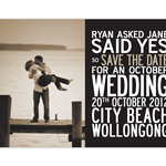 Printable Save the Date Card. Wedding Announcement Card. Engagement Invitation