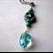 Swiss blue quartz and Kazuri necklace