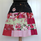 Women's Skirt Upcycled Vintage Denim and Patchwork Size S