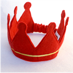 King / Felt Crown - Red / Gold / Christmas
