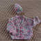 SIZE 6-12 mths - Knitted cardigan & beanie (multi colour ) by CuddleCorner