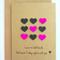 Hearts Tic Tac Toe Handmade Card