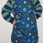 Kids apron, size 2-4, adjustable - rocket ships