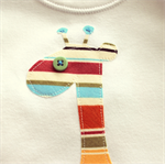 baby giraffe | applique onesie | boy retro stripes