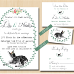 Printable Wedding Invitation Set - Country wedding invitation - Vintage Wedding