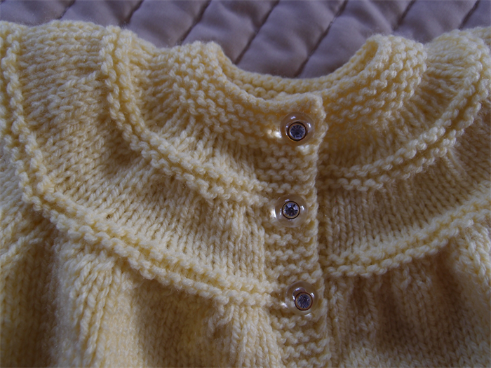 Size 0 6 Mths Hand Knitted Baby Cardigan Jacket In