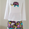 Girls Elephant Safari Flannel Pyjamas  Size 1-4