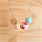 Polymer Clay and Wood Necklace