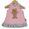 SIZE 000 Corduroy Applique Embroidered Pinafore - Bear