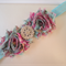 Toddler/girl headband ~ Shabby Chic ~ Blue Floral