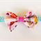 Pink Birdie fabric bow headband. All sizes Baby headband