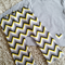 Chevron Lounge Pants Set Yellow & Grey