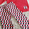 Hexagon Red Tones Lounge Pants Set (Size 00-4)