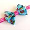 Aqua fabric bow headband. All sizes Baby headband