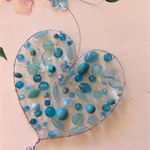beautiful suncatcher blue turquoise butterfly butterflies heart shaped
