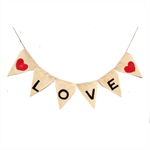 CLOSING DOWN SALE Love Heart shabby Wedding Hessian bunting banner decoration
