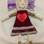 Tactile Twiggy tag rag doll